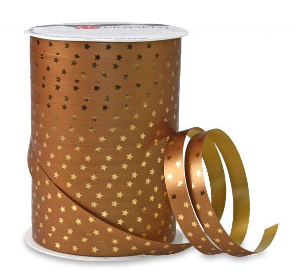Metallic Ringelband Sterne Gold