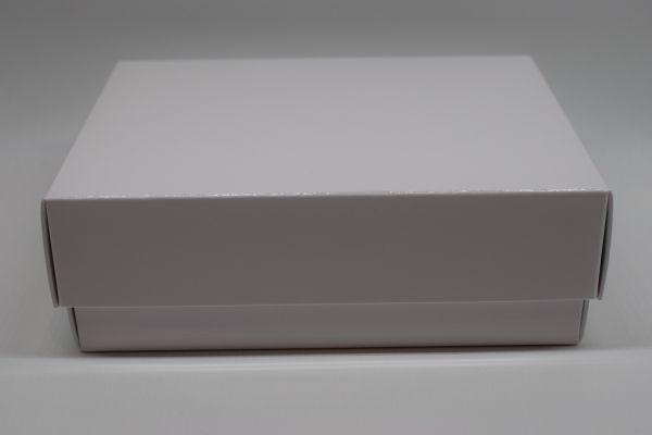 Geschenkbox 2-teilig Glanz Weiß 15x11x5cm
