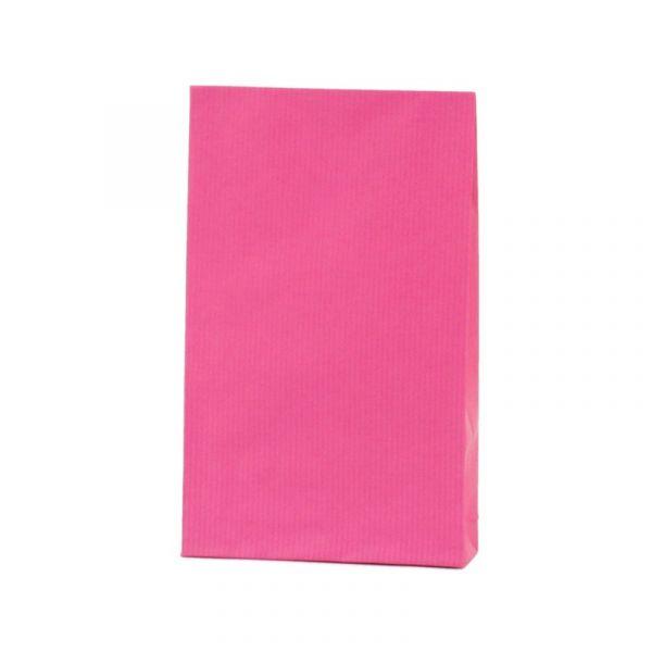 Seitenfaltenbeutel 12x19+3cm Pink