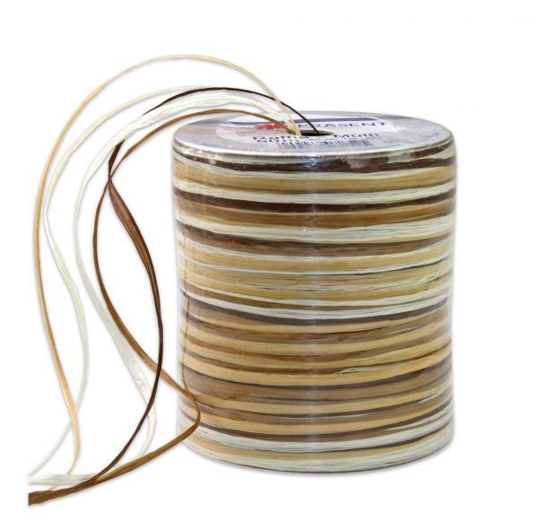 Raffia-Multicolour Braun
