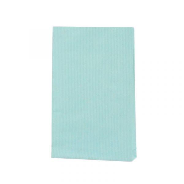 Seitenfaltenbeutel 12x19+3cm Blau