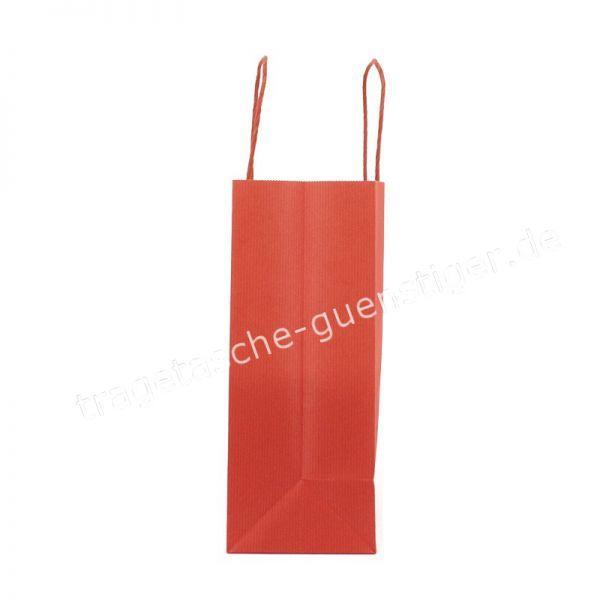Papiertasche mit gedrehtem Papiergriff Querformat Rot