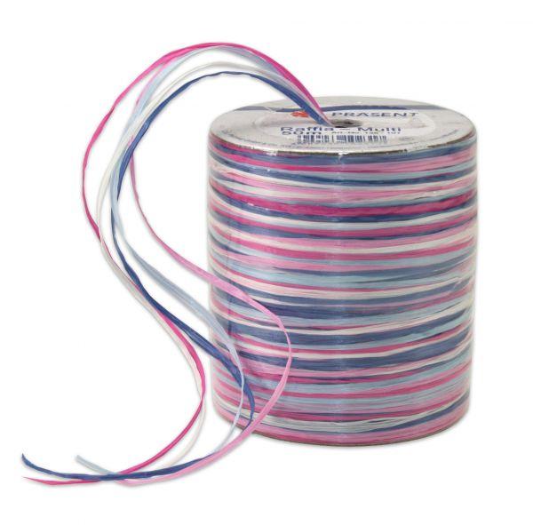Raffia-Multicolour Hellblau