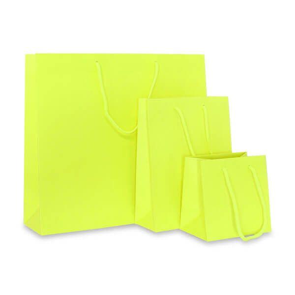 Deluxe Tasche Mattkaschiert Neon Gelb