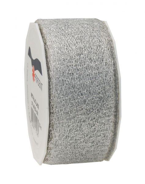 Metallic Gewebeband 40mm/20m Silber