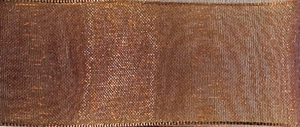 Organzaband 10mm/50m Braun
