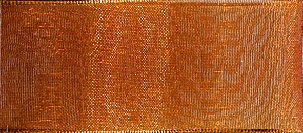 Organzaband 10mm/50m Kupfer