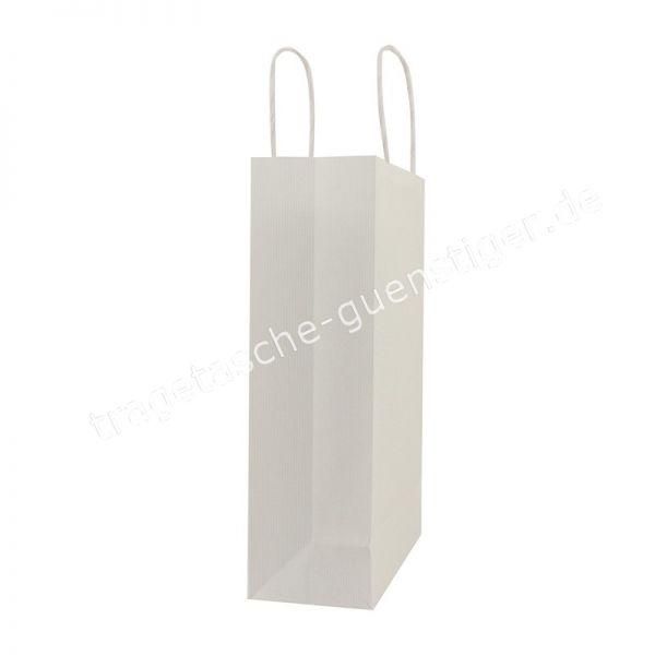 Papiertasche mit gedrehtem Papiergriff Weiß