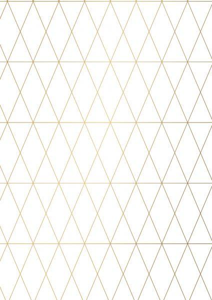 Geschenkpapier Metallic geometisch Weiß