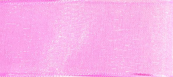 Organzaband 10mm/50m Rosa