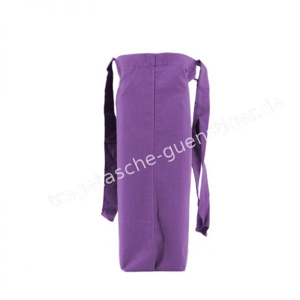 Baumwoll Tragetasche Violett