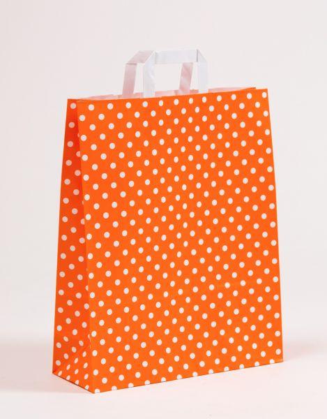 Flachhenkeltasche Punkte Orange