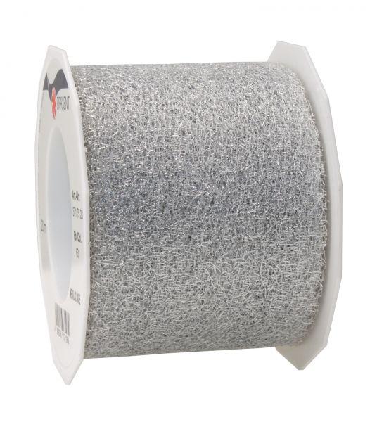 Metallic Gewebeband 72mm/20m Silber