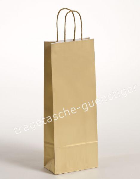 Papier Flaschentaschen 1er Gold