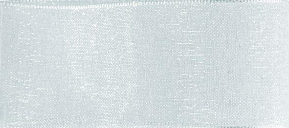 Organzaband 10mm/50m Weiß