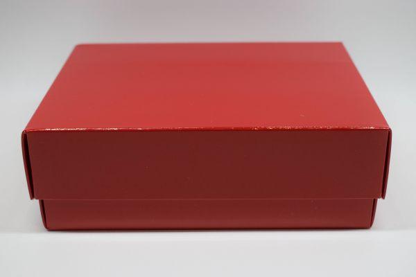 Geschenkbox 2-teilig Glanz Rot 15x11x5cm