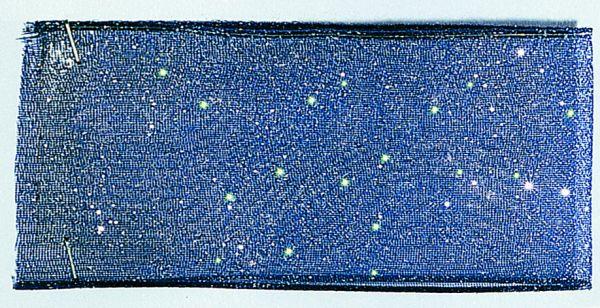 Organzaband Glitter 16mm/20m Dunkelblau