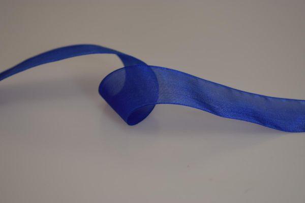 Organzaband 38mm/25m Blau
