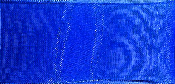 Organzaband 10mm/50m Blau