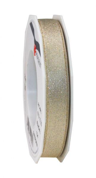 Satinband Glitter 15mm/20m Creme