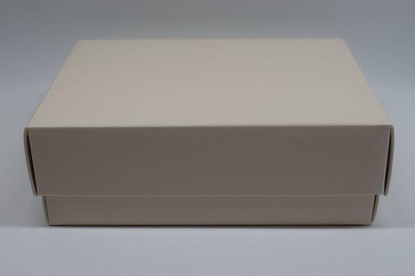 Geschenkbox 2-teilig Matt Creme 20x20x5cm