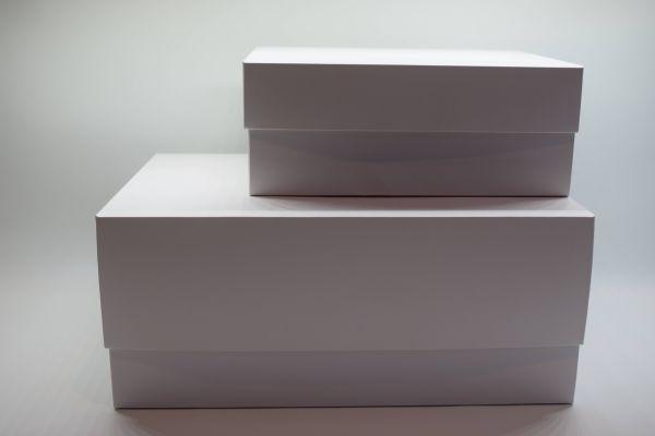 Geschenkbox 2-teilig Matt Weiß 25x20x10cm