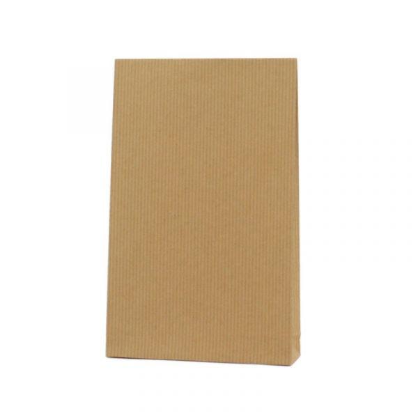 Seitenfaltenbeutel 12x19+3cm Braun