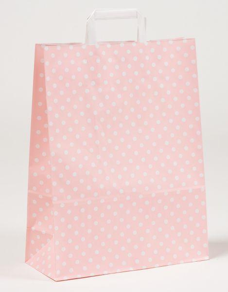 Flachhenkeltasche Punkte Rosa