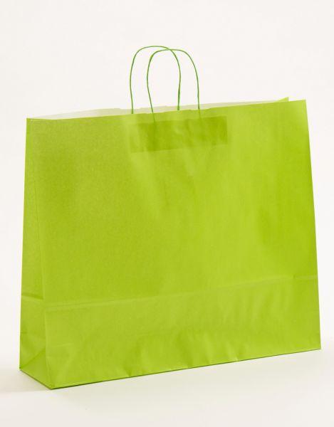 Papiertasche mit gedrehtem Papiergriff Uni Hellgrün