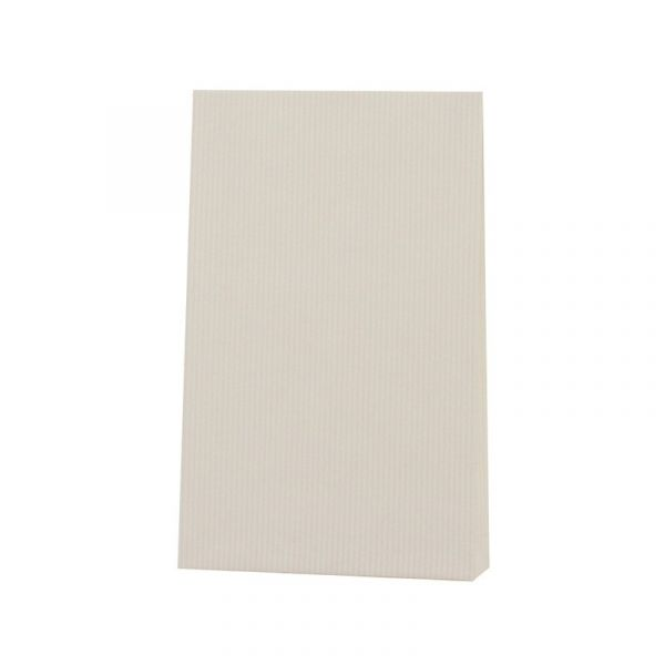 Seitenfaltenbeutel 12x19+3cm Weiß