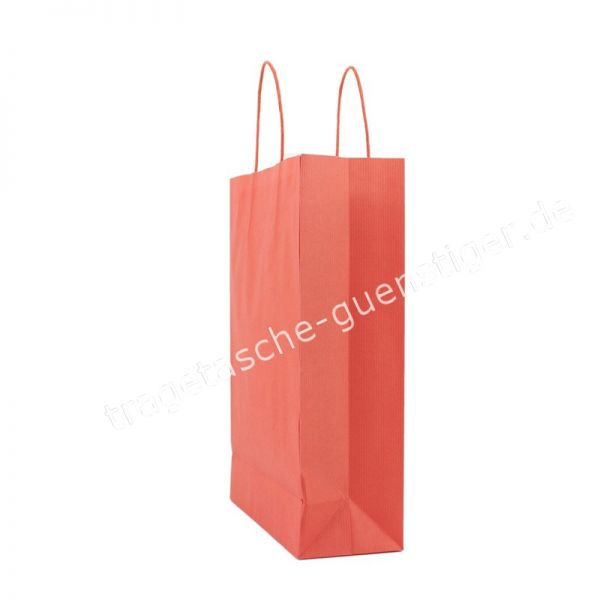 Papiertasche mit gedrehtem Papiergriff Rot