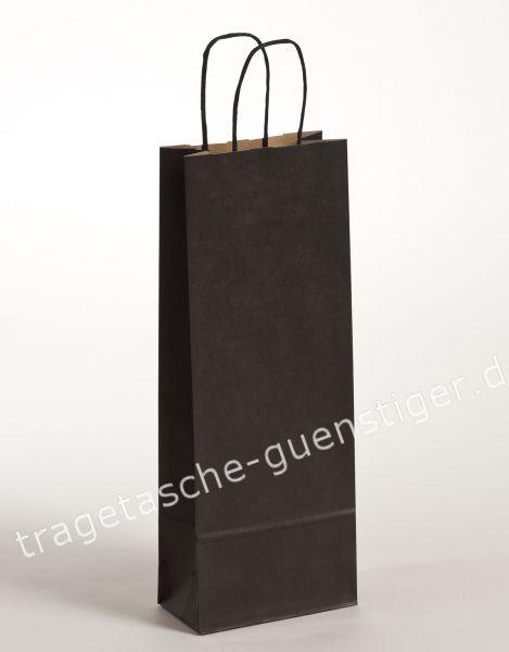 Papier Flaschentaschen 1er Schwarz