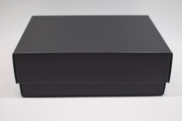 Geschenkbox 2-teilig Matt Schwarz 20x20x5cm