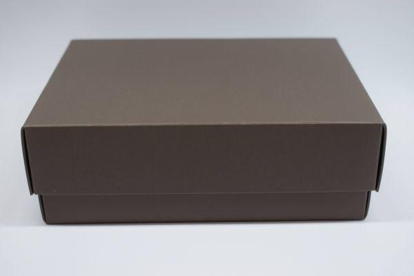 Geschenkbox 2-teilig Matt Kaffee 33x22x6cm