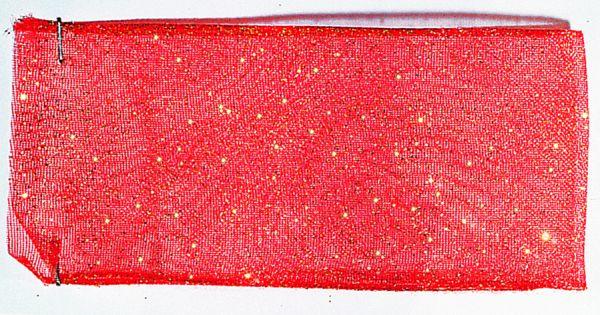 Organzaband Glitter 16mm/20m Rot