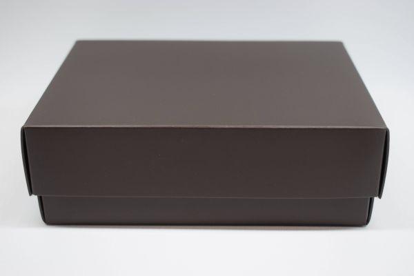 Geschenkbox 2-teilig Matt Schoko 15x11x5cm