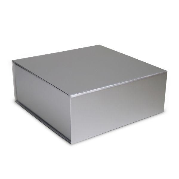 Magnetfaltbox Silber glossy in 3 Größen