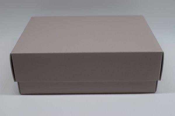 Geschenkbox 2-teilig Matt Taupe 15x11x5cm