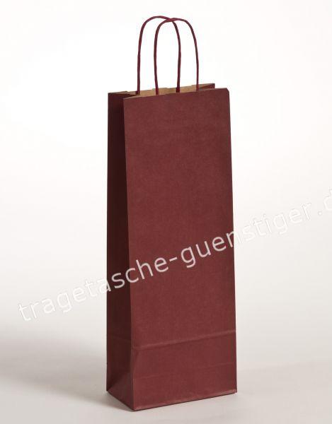 Papier Flaschentaschen 1er Weinrot