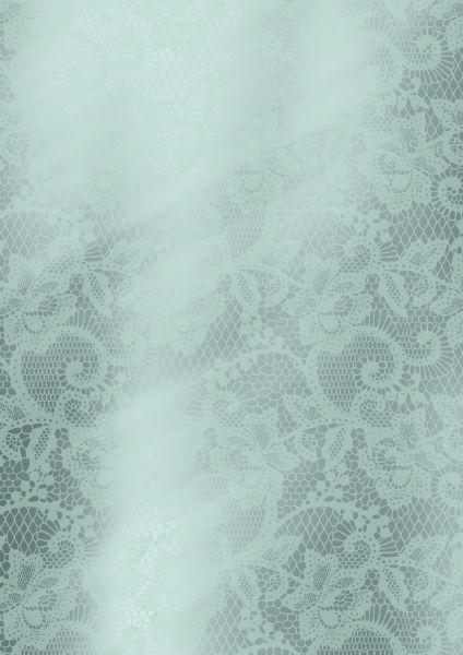 Geschenkpapier Metallic Ranken Mint
