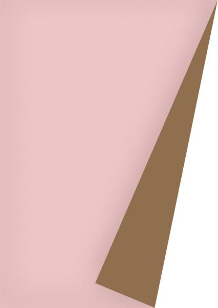 Geschenkpapier Uni Lack Rose/Kupfer